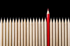 Outstanding red pencil Royalty Free Stock Image
