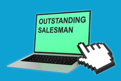 Outstanding Salesman concept Royalty Free Stock Photo