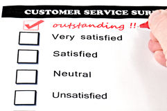 Outstanding service Stock Image
