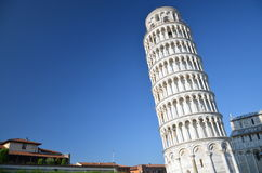 The outstanding view of the Leaning Tower on Squar Royalty Free Stock Photos
