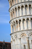 The outstanding view of the Leaning Tower on Square of Miracles in Pisa, Italy Royalty Free Stock Photography