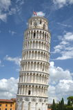 The outstanding view of the Leaning Tower on Square of Miracles in Pisa, Italy Stock Images