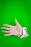 Outstretched human hand Stock Image