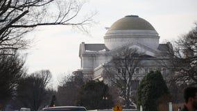 Outumn зимы посадки самолета голубого неба музея Вашингтона сток-видео