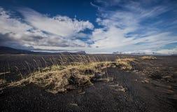 Outwash plattar till - Sandur, Skaftafell och glaciärer av Island Royaltyfri Bild