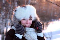 outwear детеныши женщины зимы Стоковые Фото