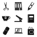 Outwork icons set, simple style. Outwork icons set. Simple set of 9 outwork vector icons for web isolated on white background Royalty Free Stock Image