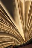 Ouvert éventé de vieux livre images stock