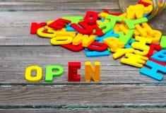 ouvert Image libre de droits