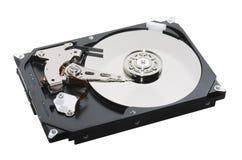 Ouvert de disque dur d'isolement Photographie stock
