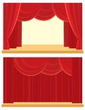 Ouvert et fermé le rideau Photo stock