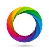 Ouverture colorée d'obturateur de caméra Photo libre de droits