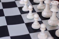 Ouverture d'échecs avec le plan rapproché sur des gages photographie stock libre de droits