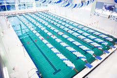 Ouverture d'une piscine Image stock