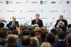 Ouverture de conférence internationale d'anti-corruption empêchement photographie stock