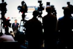 Ouverture de conférence internationale d'anti-corruption empêchement images stock