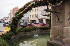 Ouverture de fontaine de Pâques dans Neuöetting Image libre de droits