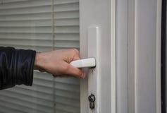 Ouverture de la porte en plastique Photos libres de droits