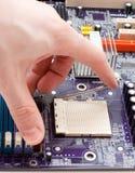ouverture de loquet de CPU photo libre de droits