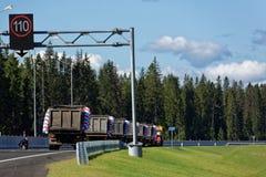Ouverture de nouveau tronçon de route de Novopriozersk Photos stock