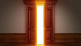 Ouverture de porte avec la clé de chroma illustration stock