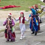 Ouverture du festival de Nadaam dans Mongolie Image stock