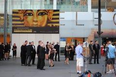 Ouverture du Roi Tut Exhibition Melbourne Images stock