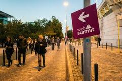 Ouverture du sommet 2017, Lisbonne de Web Photos stock