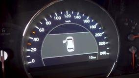 Ouverture et fermeture la portière de voiture, voiture de tableau de bord banque de vidéos