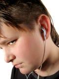 Ouvinte da música imagens de stock royalty free