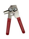 Ouvreur de bidon avec le traitement rouge - côté de lame Photo libre de droits