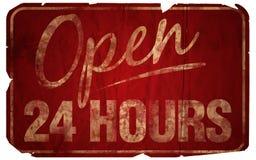 Ouvrez 24 heures âgées Photo stock