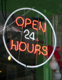 Ouvrez 24 heures Image libre de droits