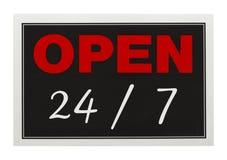Ouvrez 24 7 Images stock