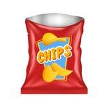 Ouvrez Chips Package illustration de vecteur