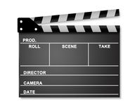 Ouvrez Clapperboard Images stock