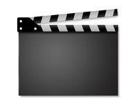 Ouvrez Clapperboard Photo stock