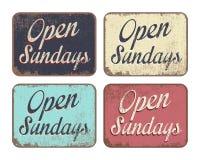 Ouvrez dimanche illustration de vecteur