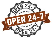 ouvrez 24 joints 7 estampille Photographie stock libre de droits