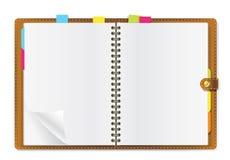 Ouvrez l'agenda Photographie stock libre de droits