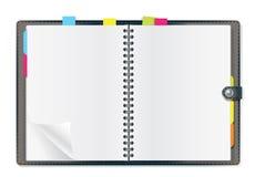 Ouvrez l'agenda Illustration Stock