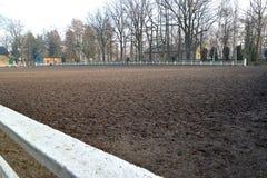 Ouvrez l'arène du centre de cheval-élevage dans Kentshin, Pologne Photographie stock libre de droits