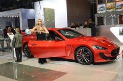 Ouvrez l'automobile d'International de Moscou de portière de voiture Images stock