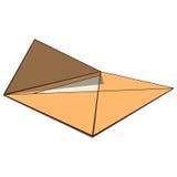 Ouvrez l'enveloppe avec le papier Dessin de perspective Vec Images stock