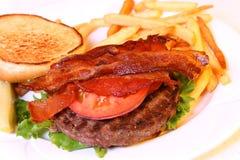 Ouvrez l'hamburger Photographie stock
