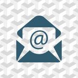 Ouvrez l'icône de courrier d'enveloppe, illustration de vecteur Style plat de conception Image libre de droits