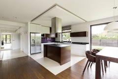 Ouvrez l'idée d'appartement de plancher image stock
