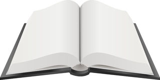 Ouvrez l'illustration de livre Photographie stock