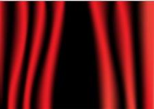 Ouvrez l'illustration de rideaux Image stock