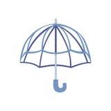 Ouvrez l'illustration de vecteur de parapluie Photographie stock libre de droits